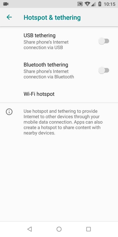 Step 4: Tap on Wi-Fi hotspot