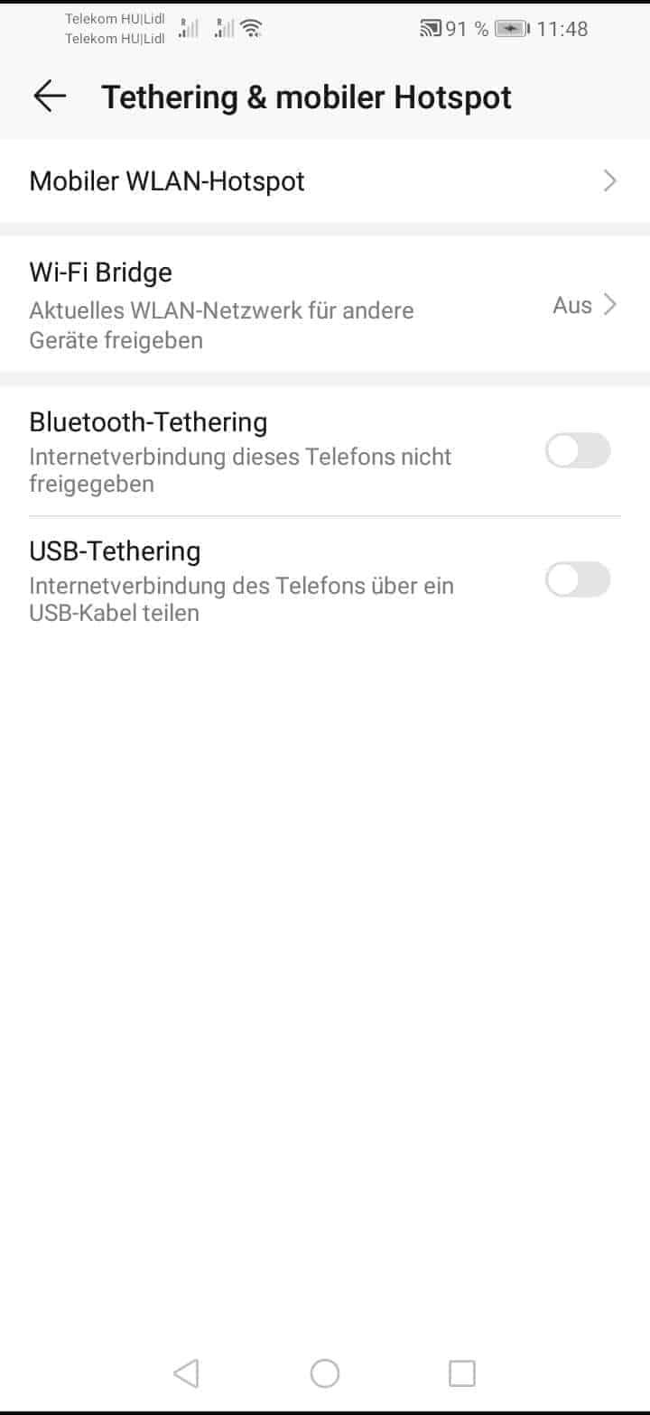 Schritt 4: Tippe auf Mobiler WLAN-Hotspot