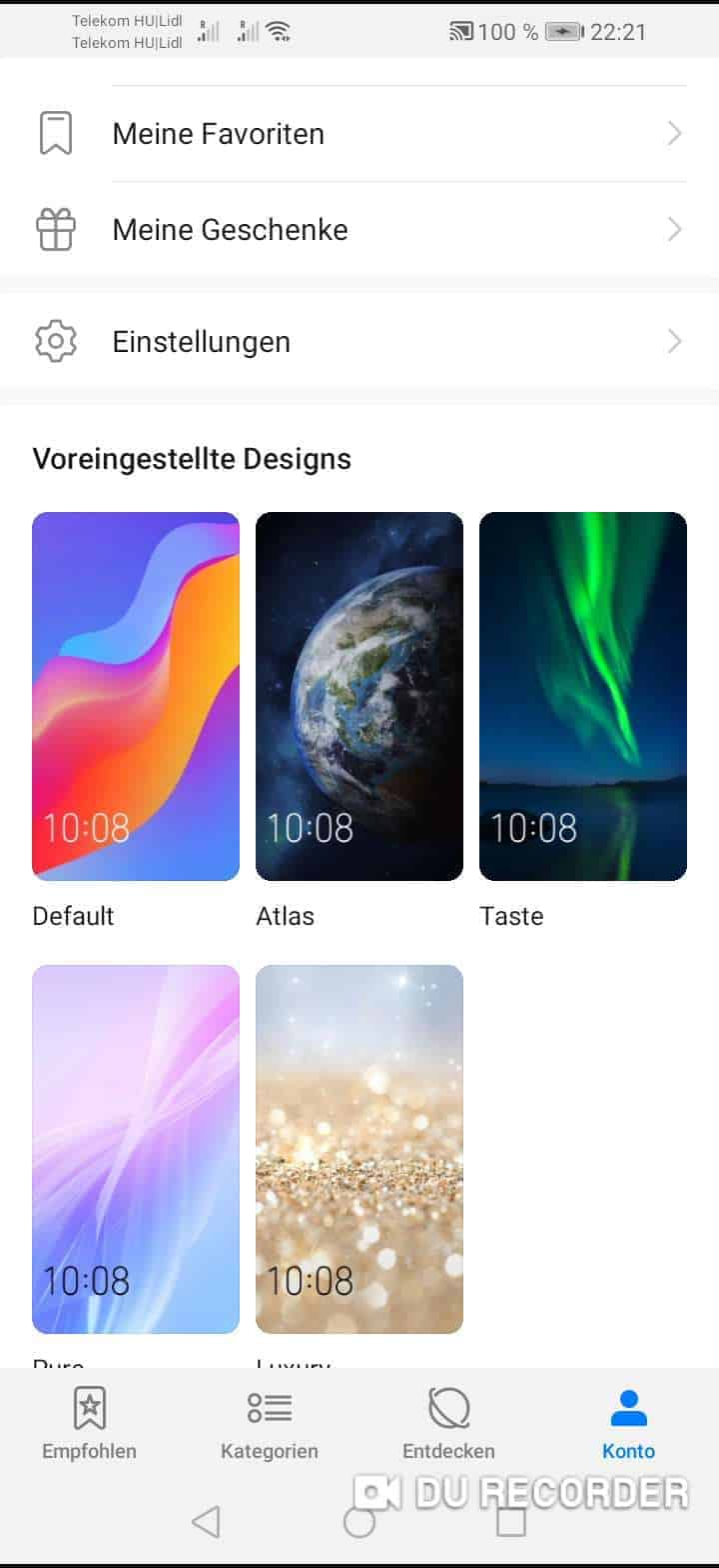 Voreingestellte Apps Löschen