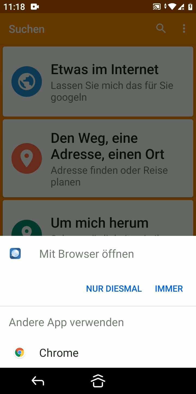 Schritt 3: Wähle den Browser