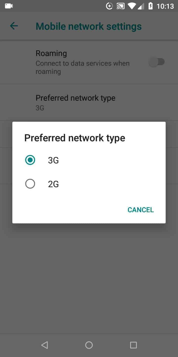 Step 5: Choose a network type