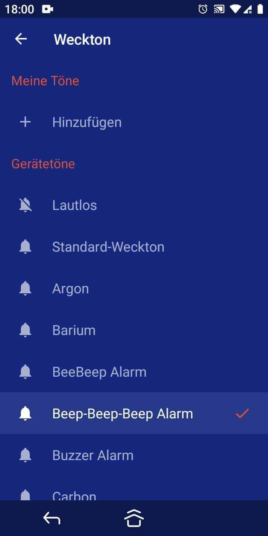 Schritt 6: Wähle einen Alarm-/Weckton