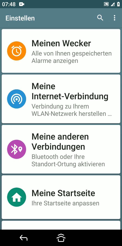 Schritt 2: Tippe auf Meine Internet-Verbindung