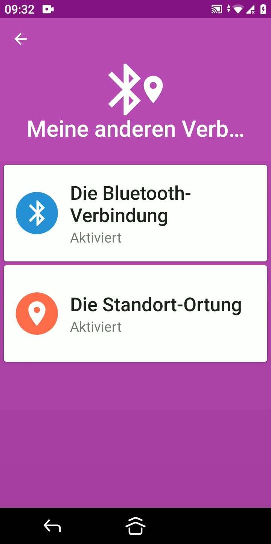 Schritt 3: Tippe auf Die Bluetooth-Verbindung