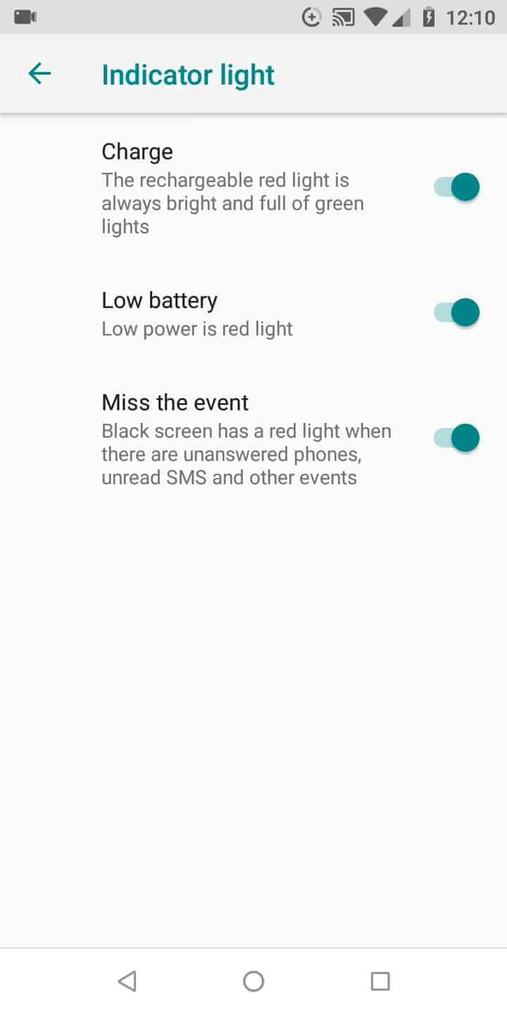 Step 5: Activate or deactivate Low battery