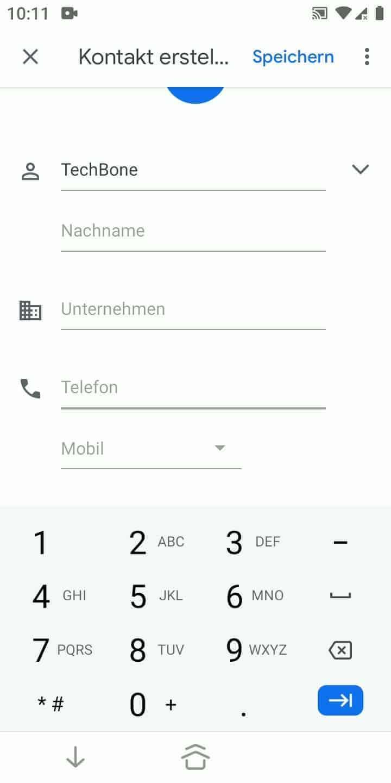 Schritt 5: Gib eine Telefonnummer ein