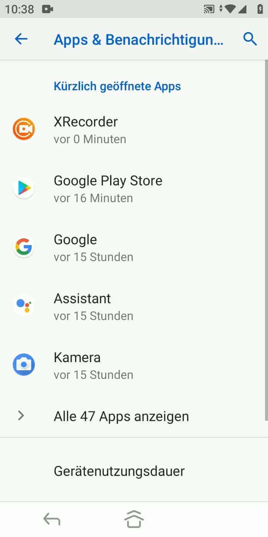 Schritt 3: Tippe auf Alle (X) Apps anzeigen