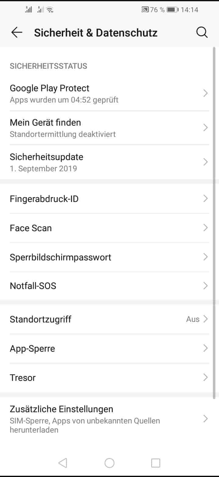 Schritt 3: Tippe auf App-Sperre