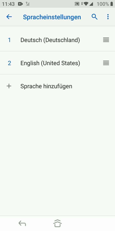 Schritt 5: Tippe auf Sprache hinzufügen