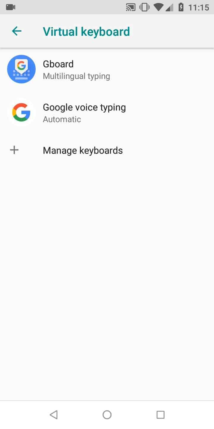 Step 5: Tap on Gboard