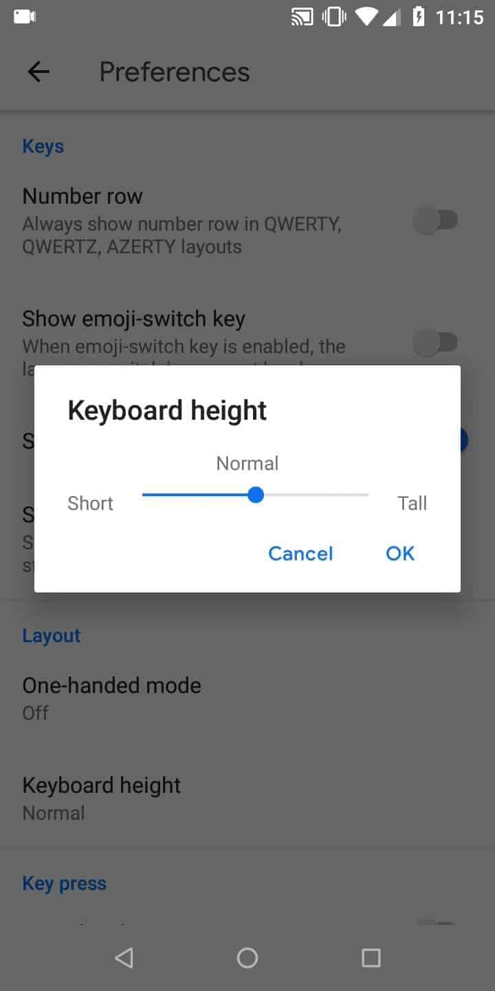 Step 8: Choose a height and confirm with OK