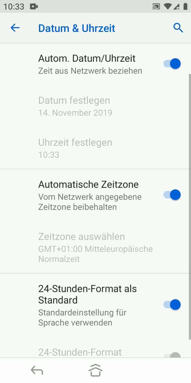 Schritt 4: Aktiviere oder deaktiviere Automatische Zeitzone