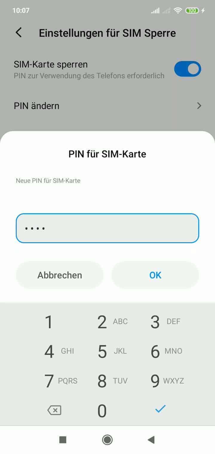 Sim Pin ändern Android 9