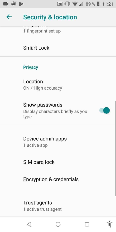 Step 3: Tap on SIM card lock
