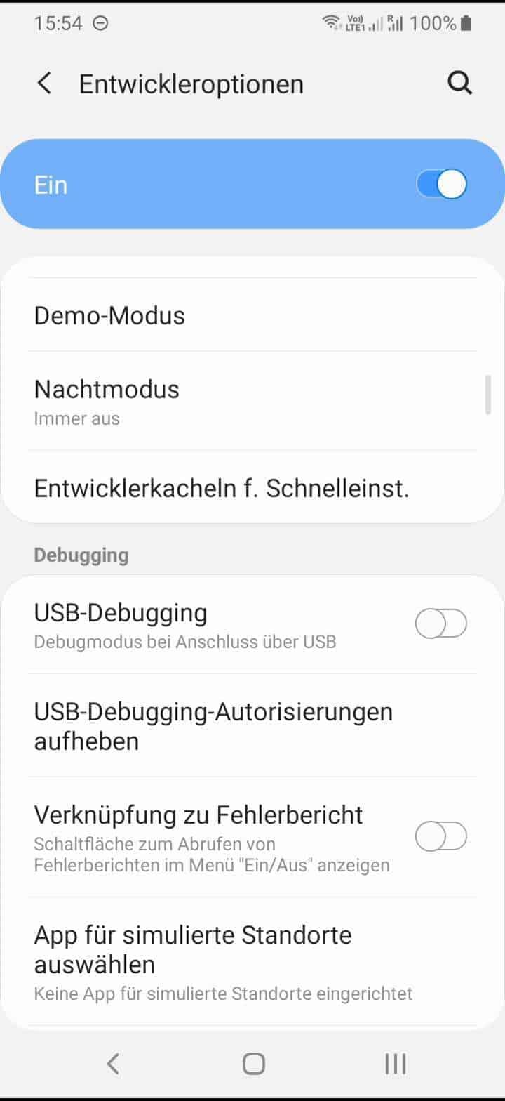 Schritt 3: Aktiviere oder deaktiviere USB-Debugging