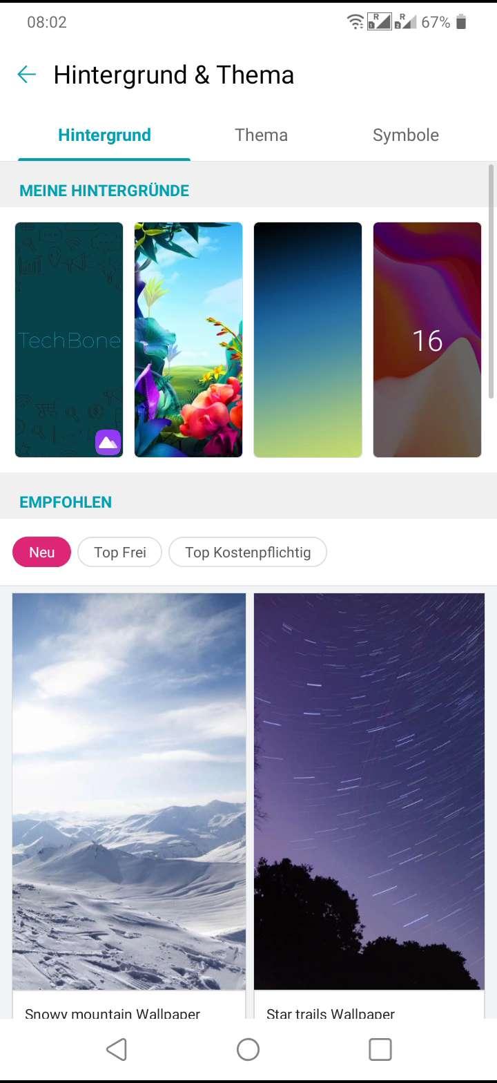 Hintergrund ändern (Startbildschirm) - LG Handbuch   TechBone