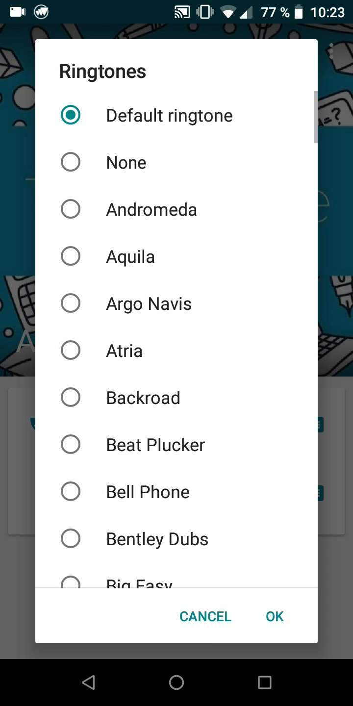 Step 5: Choose a ringtone and confirm with OK