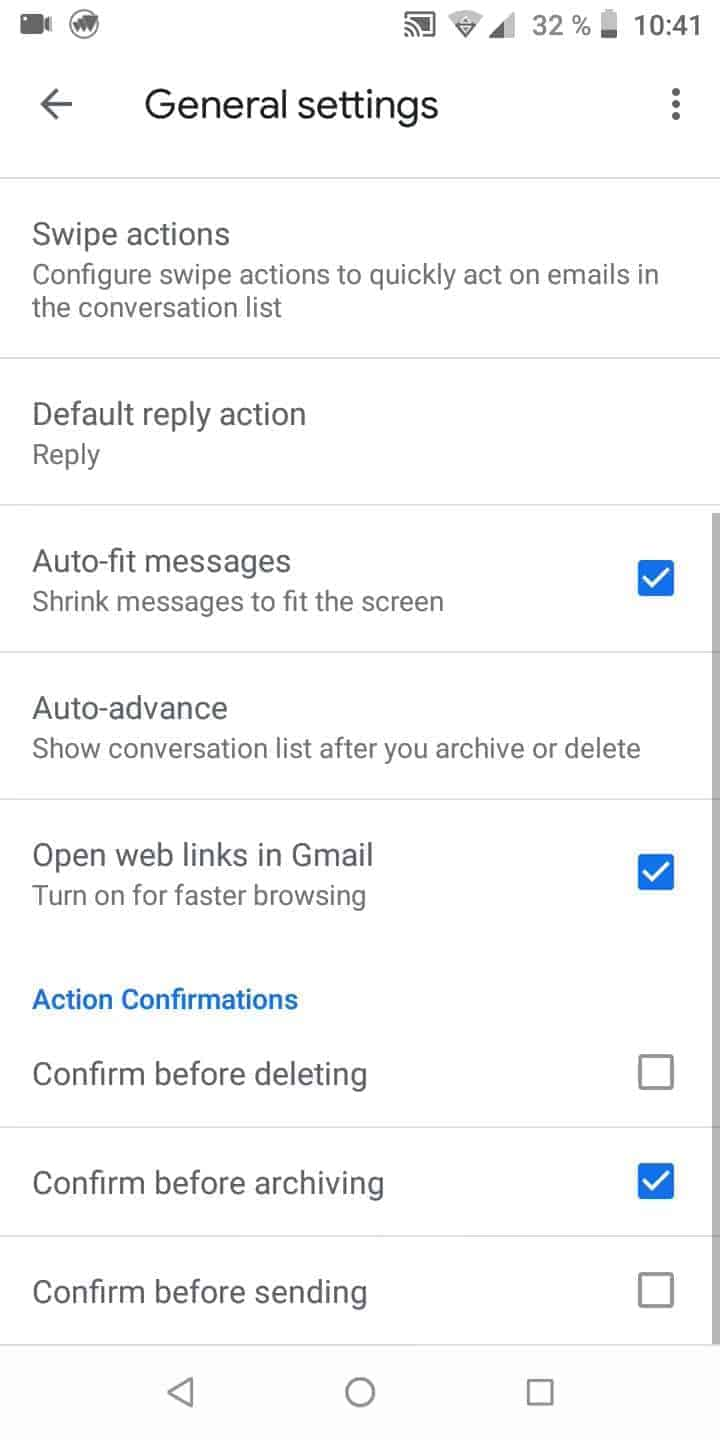 Step 5: Activate or deactivate Confirm before sending