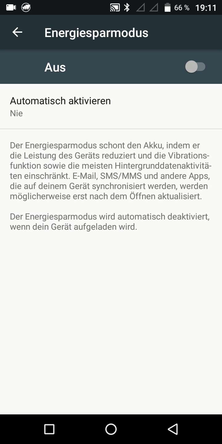 Energiesparmodus Android