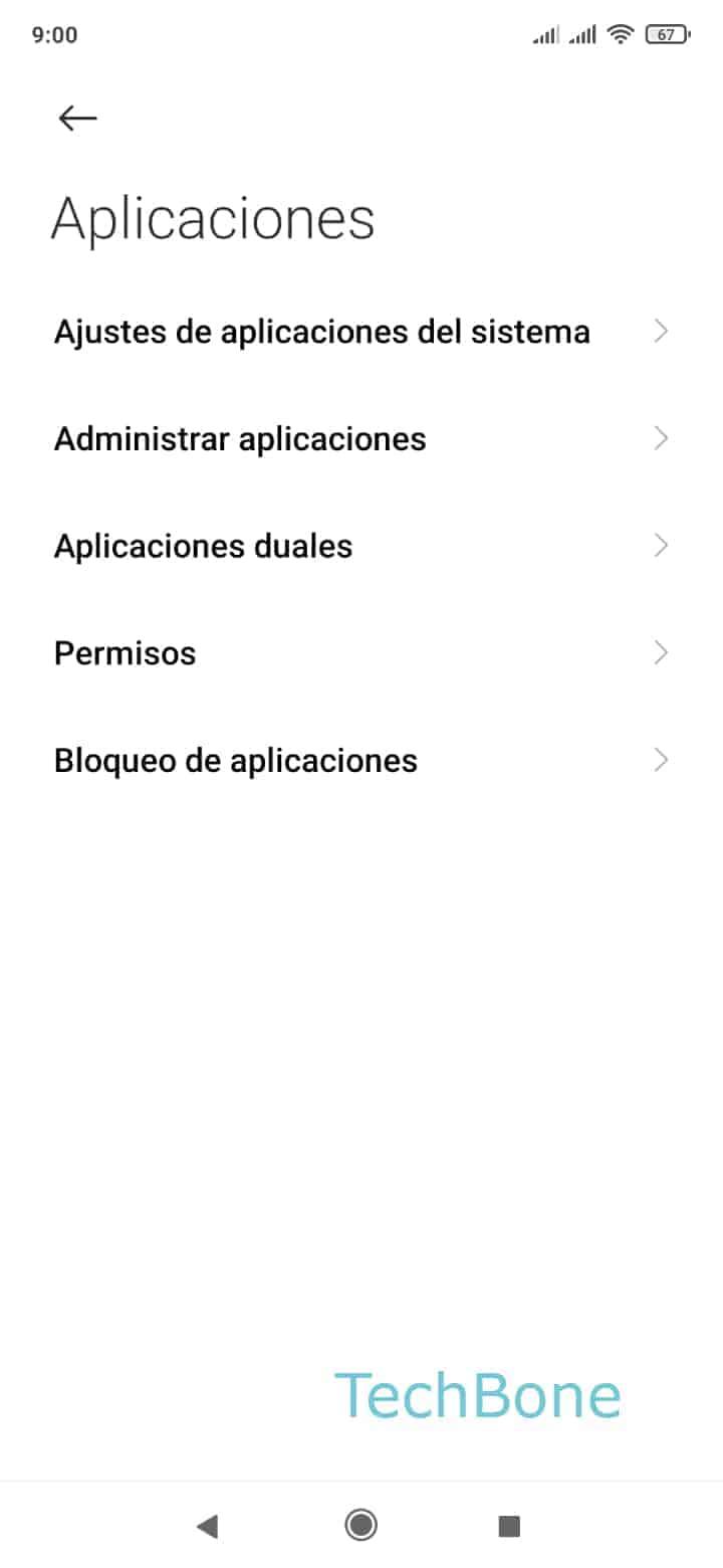 Paso 3: Presiona Administrar aplicaciones