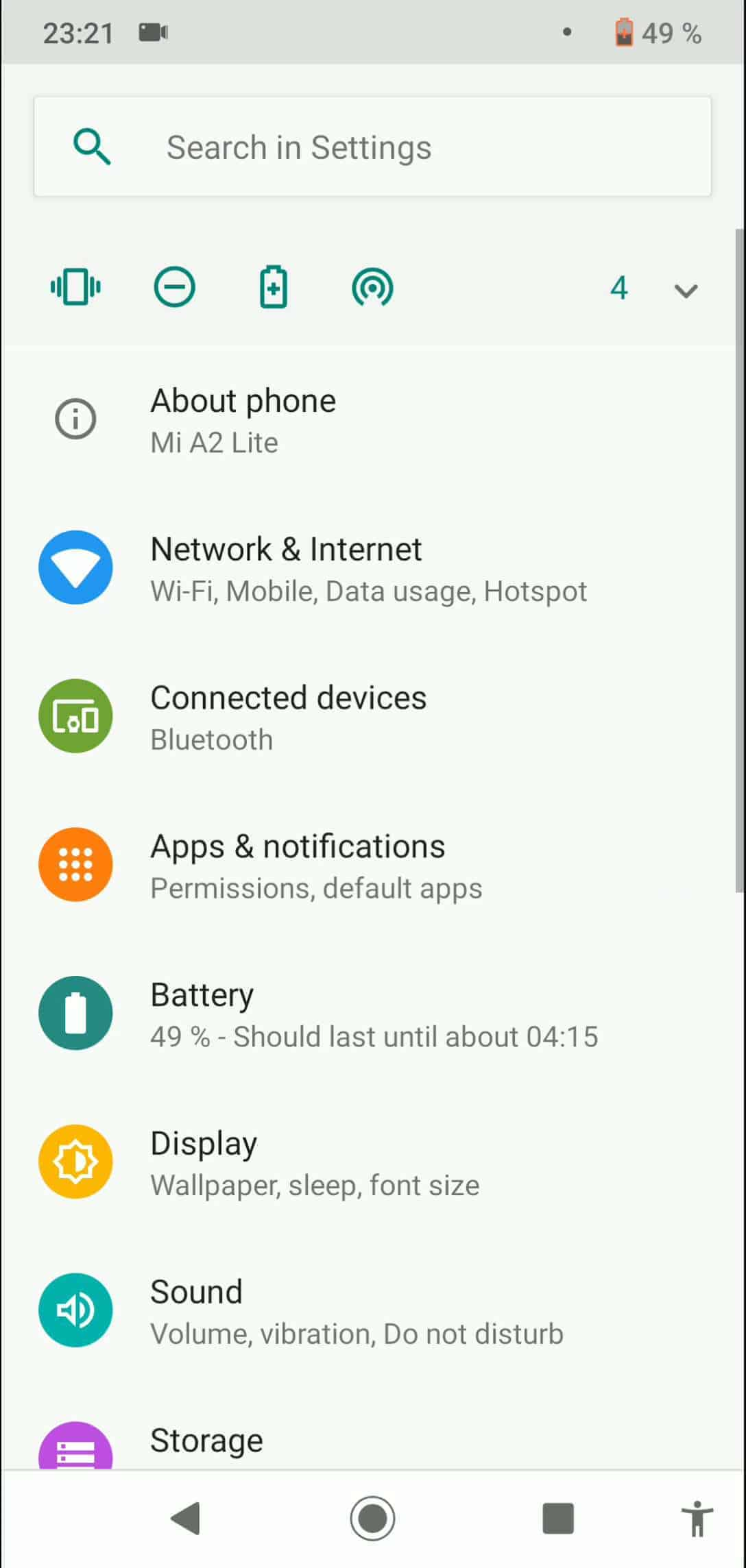 Step 2: Tap on Network & Internet