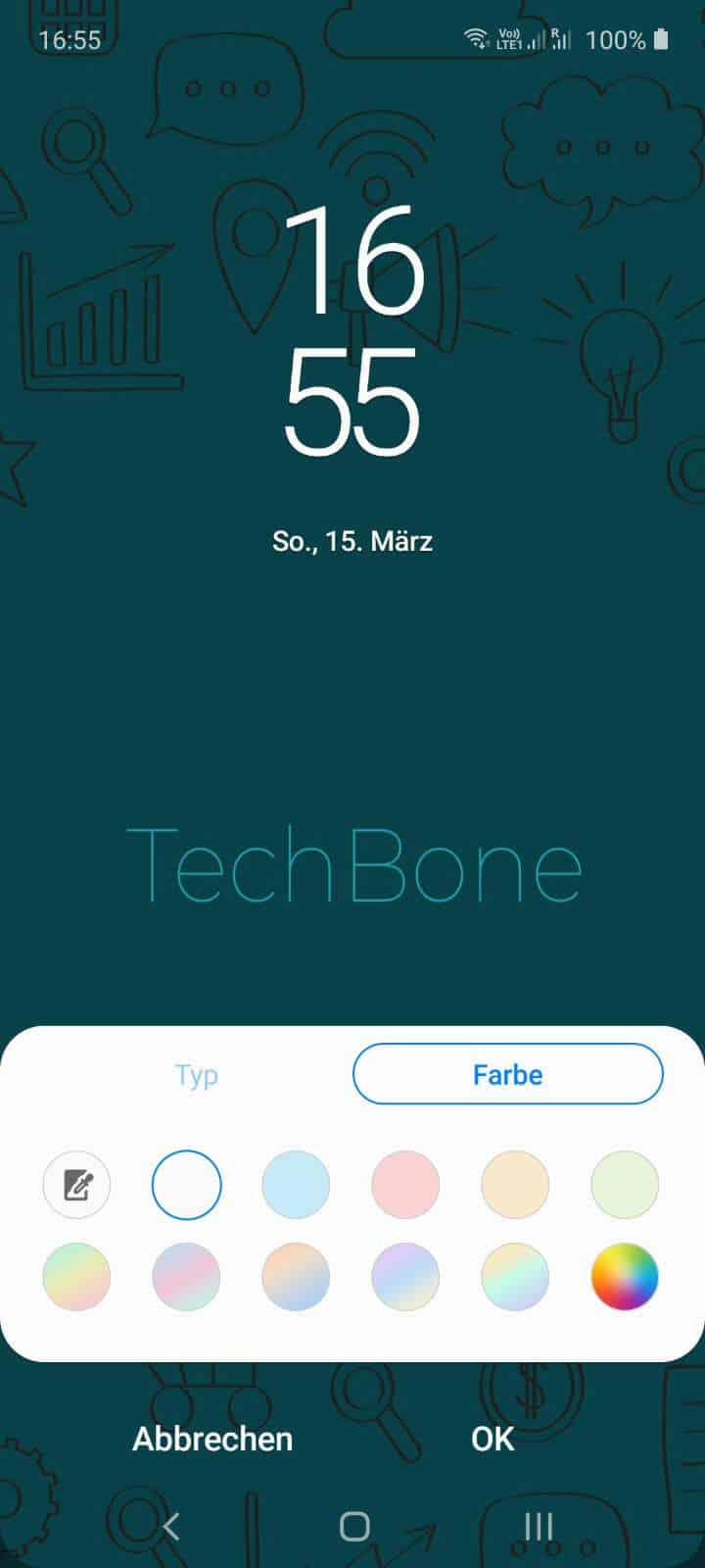 Uhr auf Sperrbildschirm ändern Samsung Handbuch
