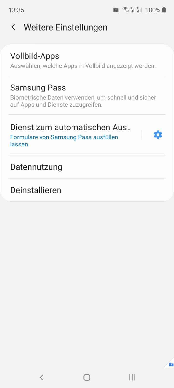 Sicherer Ordner Android