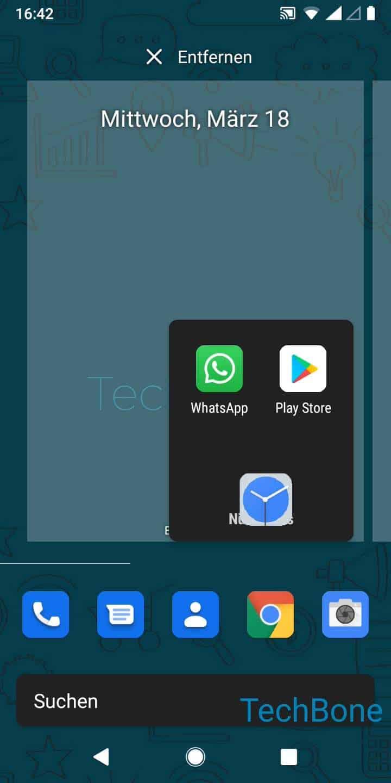 Schritt 3: Lasse die App los, um sie zu positionieren