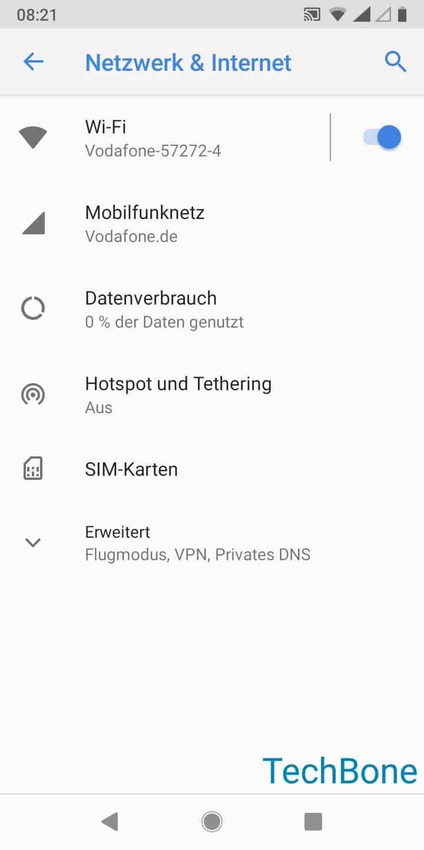 Schritt 3: Tippe auf SIM-Karten