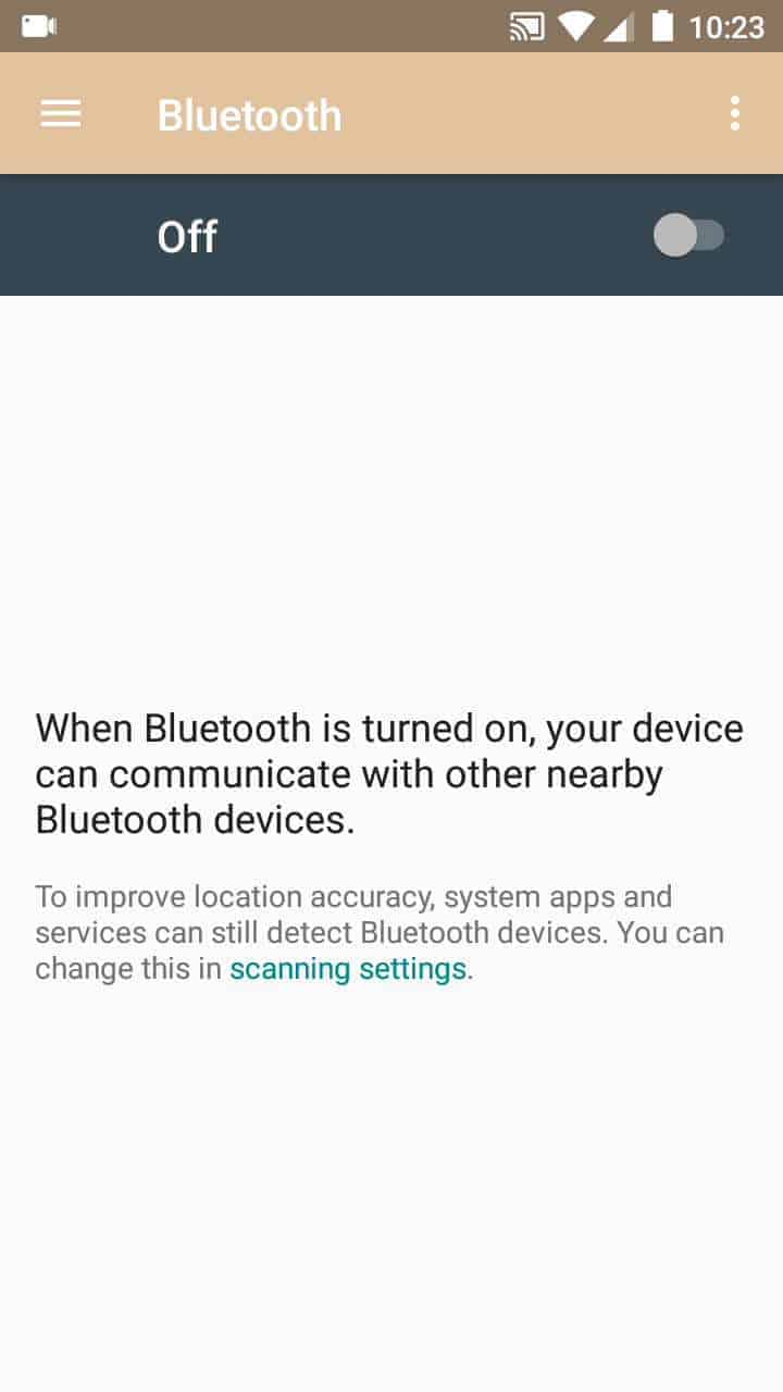 Step 3: Activate or deactivate Bluetooth