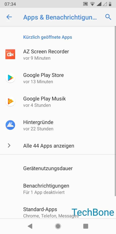 Schritt 3: Tippe auf Alle (XX) Apps anzeigen