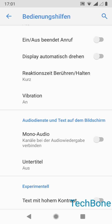 Schritt 3: Aktiviere oder deaktiviere Mono-Audio