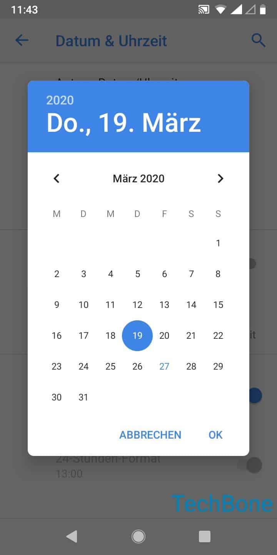 Schritt 7: Lege das Datum fest und tippe auf OK