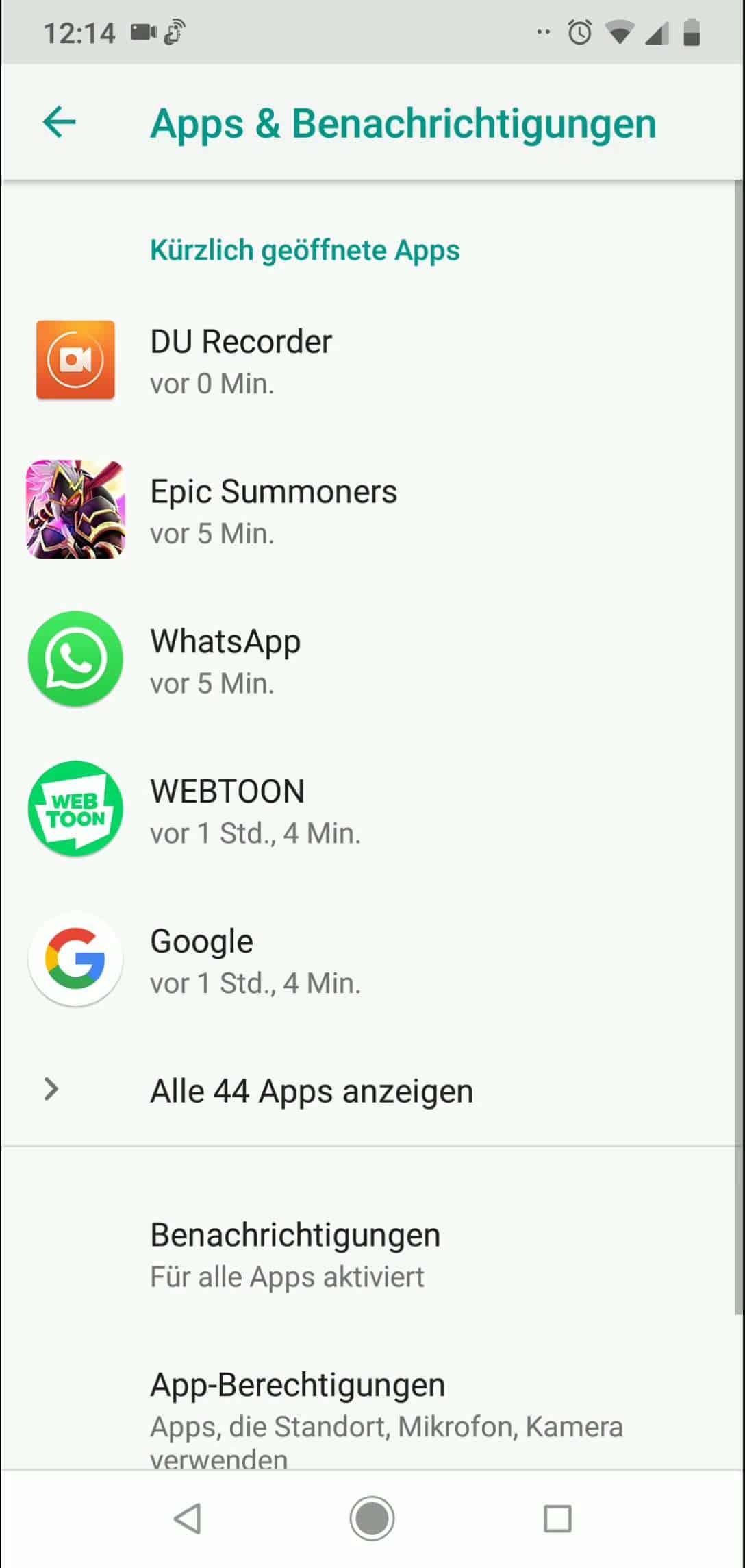 Schritt 3: Tippe auf App-Berechtigungen