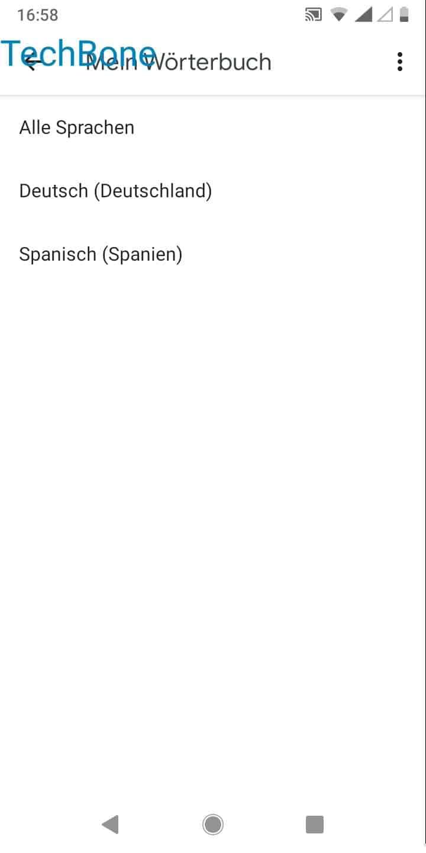 Schritt 8: Wähle Alle Sprachen oder wähle eine bestimmte Sprache