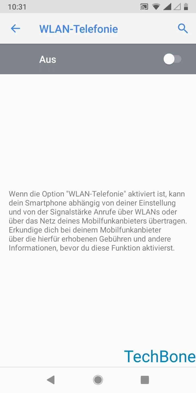Schritt 7: Aktiviere oder deaktiviere WLAN-Telefonie