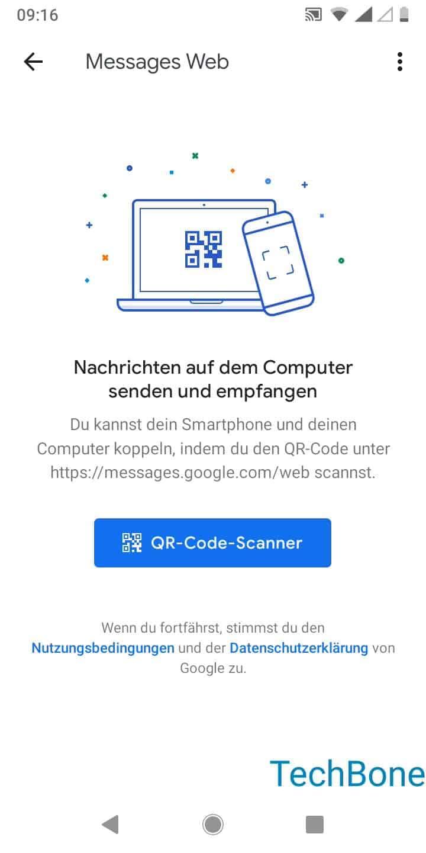 Schritt 4: Tippe auf QR-Code-Scanner und folge den Anweisungen auf dem Bildschirm
