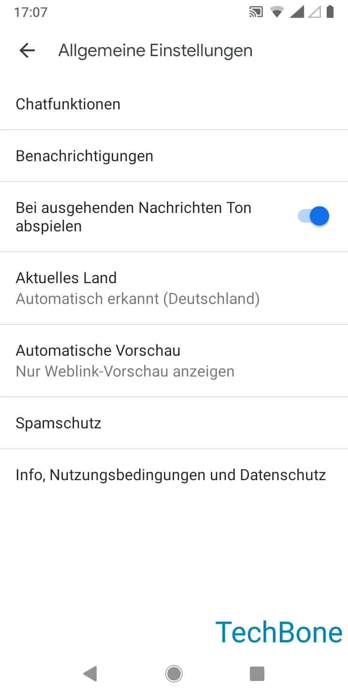 Schritt 5: Tippe auf Chatfunktionen