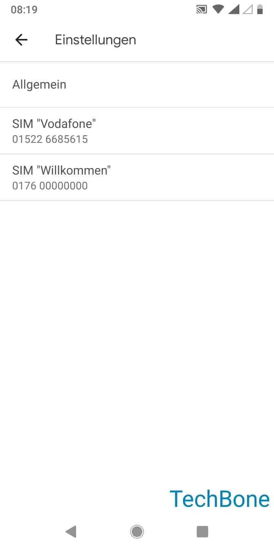 Schritt 4: Wähle eine SIM-Karte