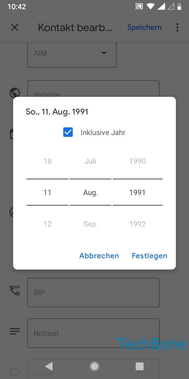 Schritt 6: Gib das entsprechende Datum des Geburtstags ein und tippe auf Festlegen