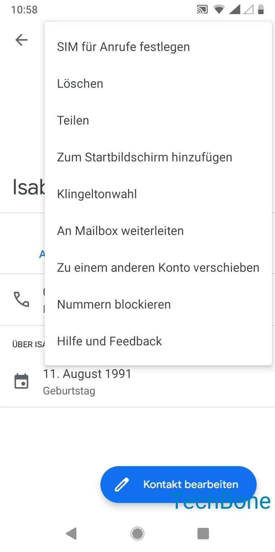 Schritt 4: Tippe auf SIM für Anrufe festlegen