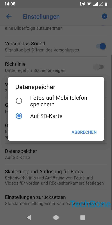 Schritt 4: Wähle Fotos auf Mobiltelefon oder auf SD-Karte speichern