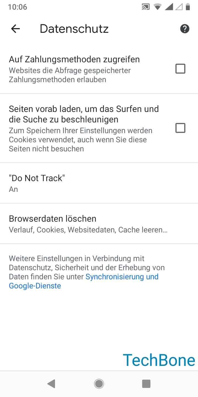 Schritt 5: Tippe auf Browserdaten löschen