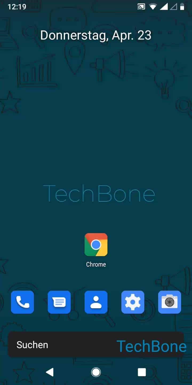 Schritt 1: Öffne Chrome