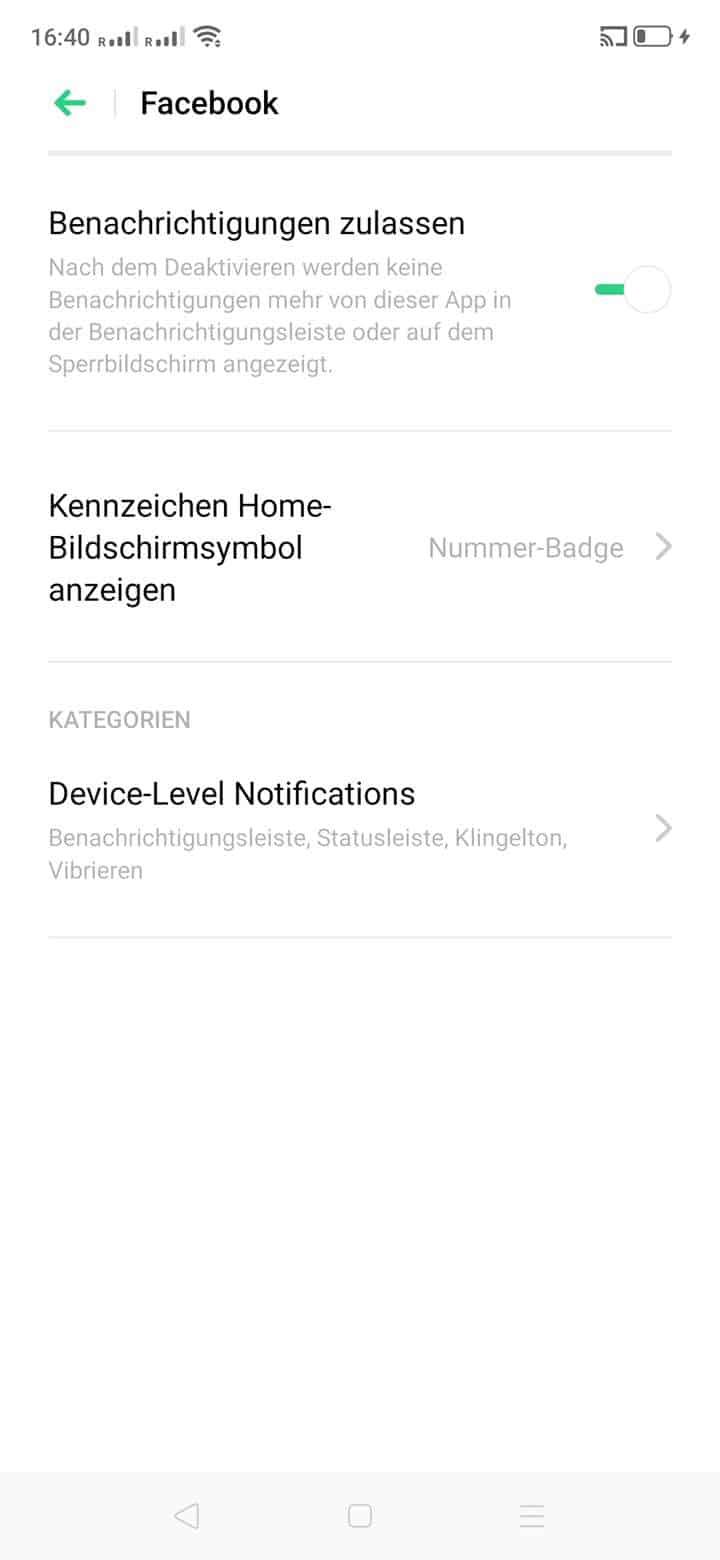 Schritt 5: Tippe auf Device-Level-Notifications