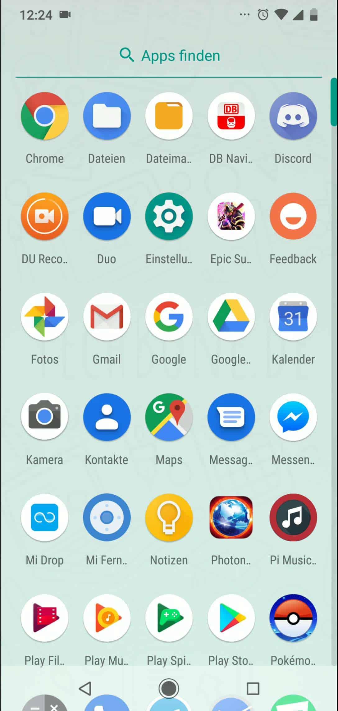 Schritt 2: Tippe und halte die App, deren Verknüpfung auf den Startbildschirm soll