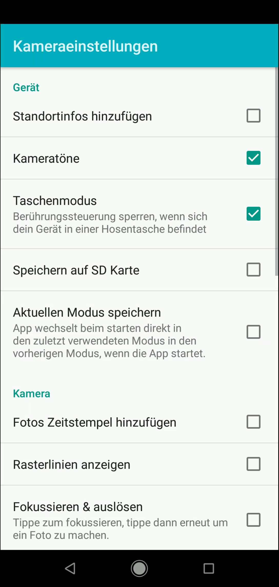 Schritt 4: Tippe auf Speichern auf SD Karte