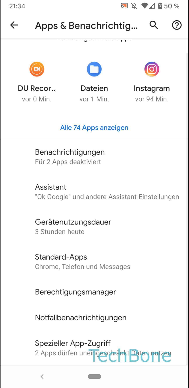 Schritt 4: Tippe auf Spezieller App-Zugriff