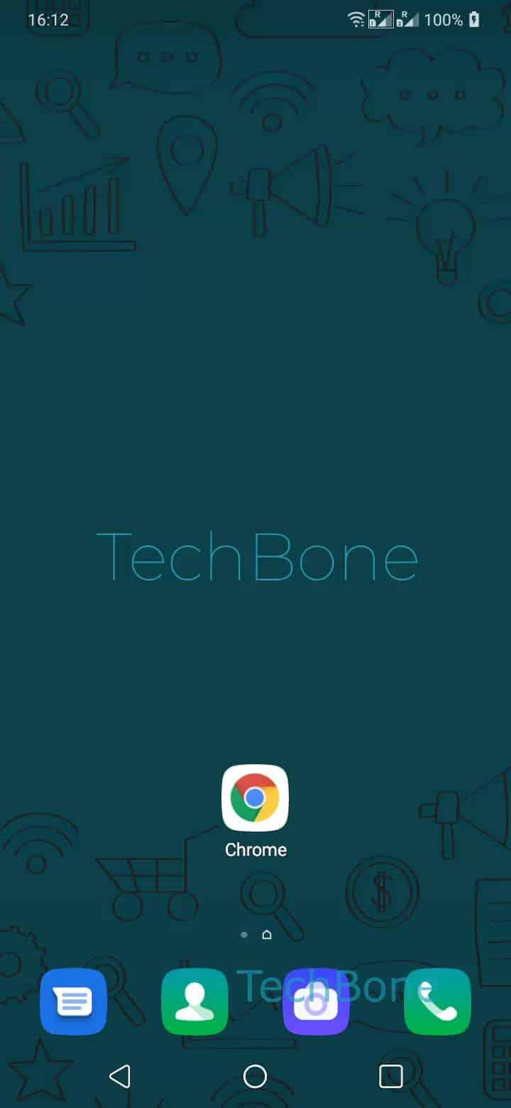 Dunkles Design für Browser-App - LG Handbuch | TechBone