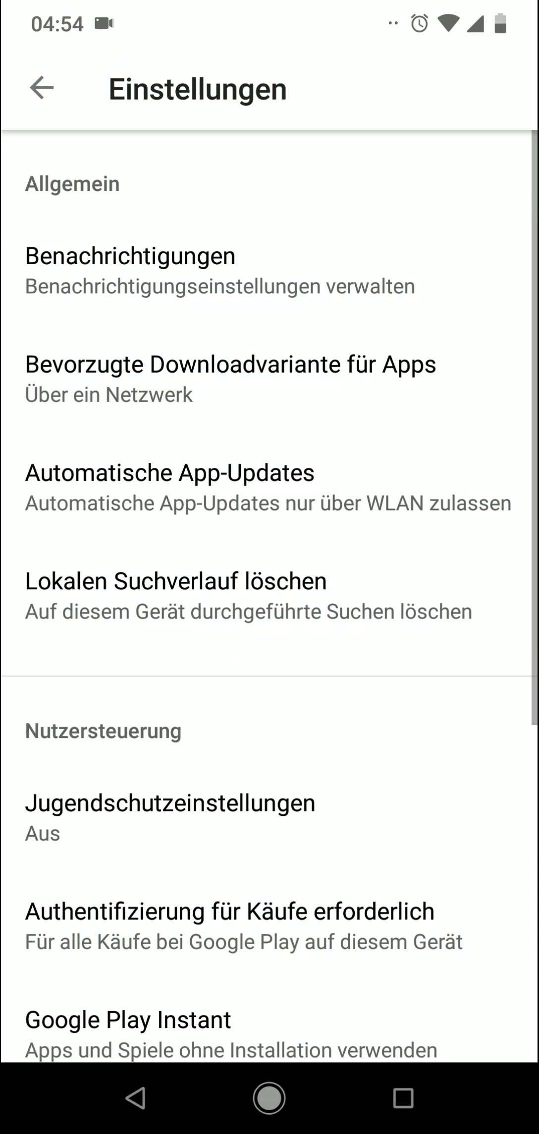 Schritt 4: Tippe auf Bevorzugte Downloadvariante für Apps